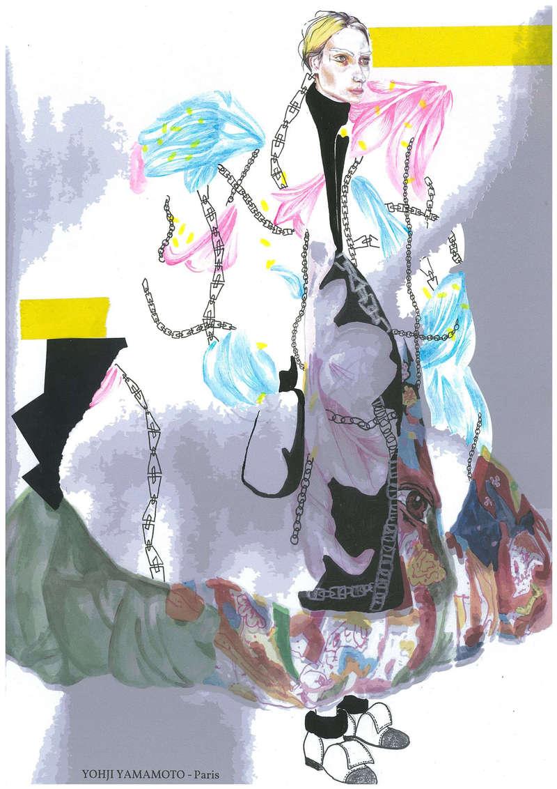 Yohji Yamamoto AW14, Fashion Illustration (2014), Manon Planche.