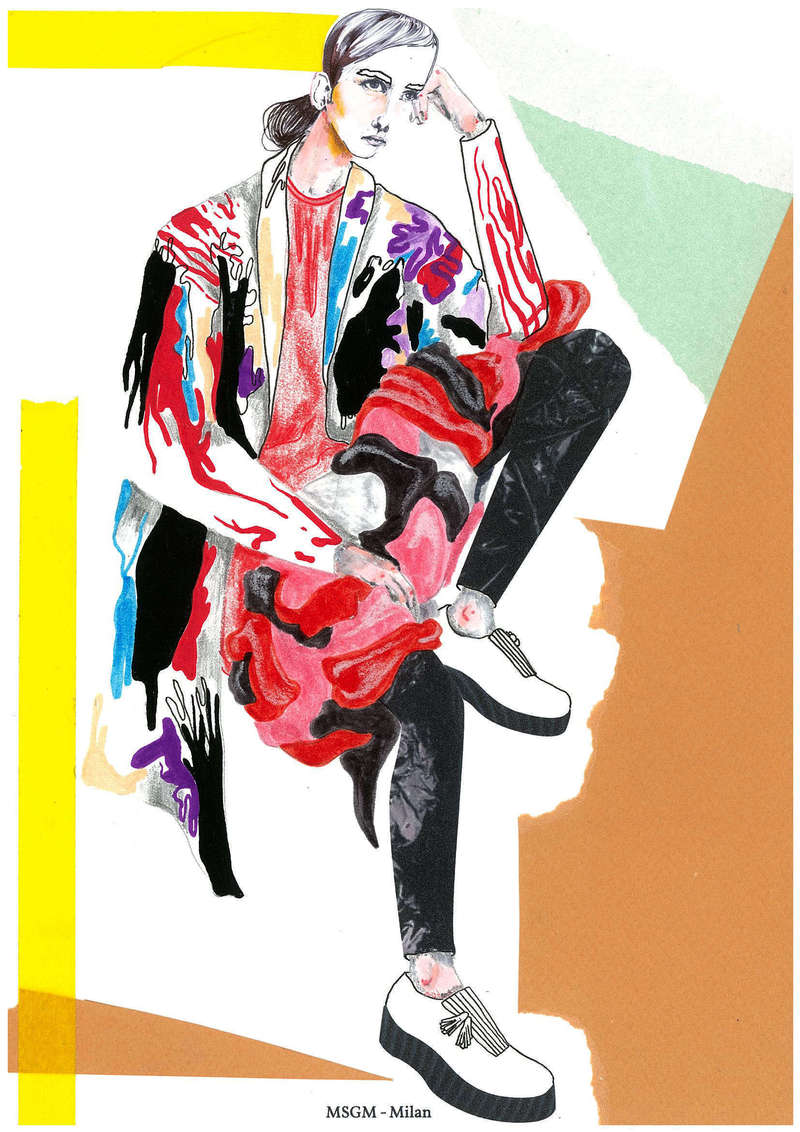 MSGM AW14, Fashion Illustration (2014), Manon Planche.