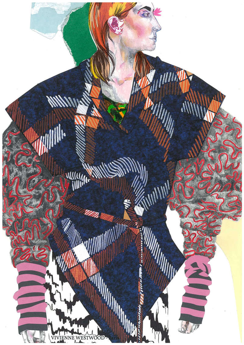 Vivienne Westwood AW14, Fashion Illustration (2014), Manon Planche.