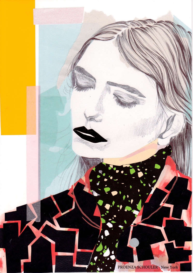 Proenza Schouler AW14, Fashion Illustration (2014), Manon Planche.