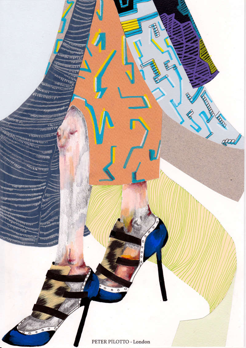 Peter Pilotto AW14, Fashion Illustration (2014), Manon Planche.