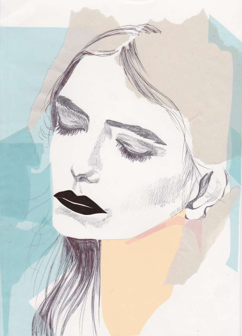 I Was Born Out of Paper Love, Fashion Illustration (2014), Manon Planche.