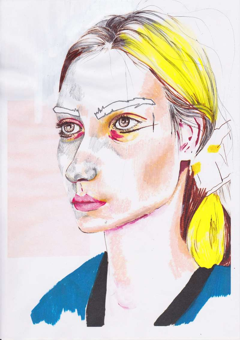 Blondie, Fashion Illustration (2014), Manon Planche.