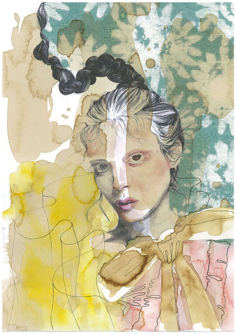 Merveilleuse III, Fashion Illustration (2016), Manon Planche.