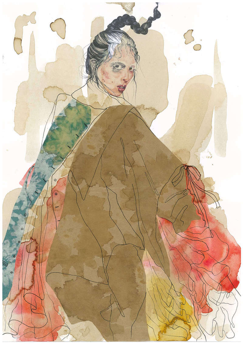 Merveilleuse I, Fashion Illustration (2016), Manon Planche.