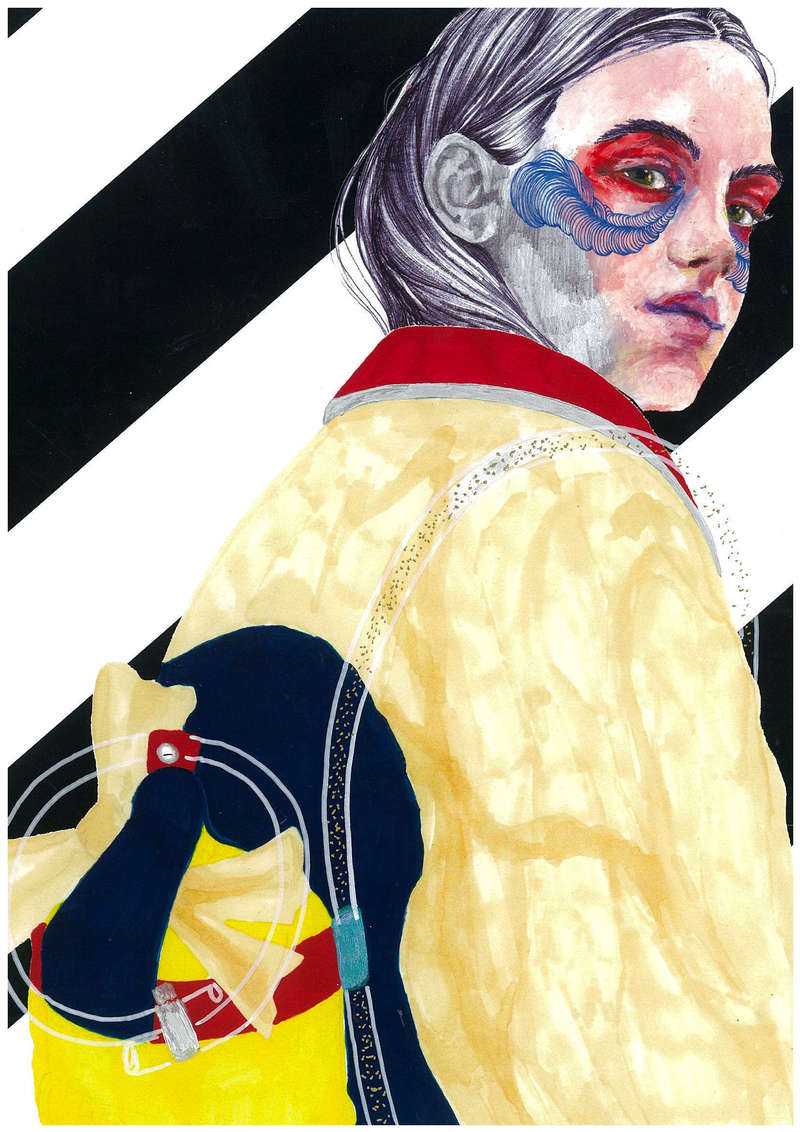 Folies Bergères III, Fashion Illustration (2016), Manon Planche.