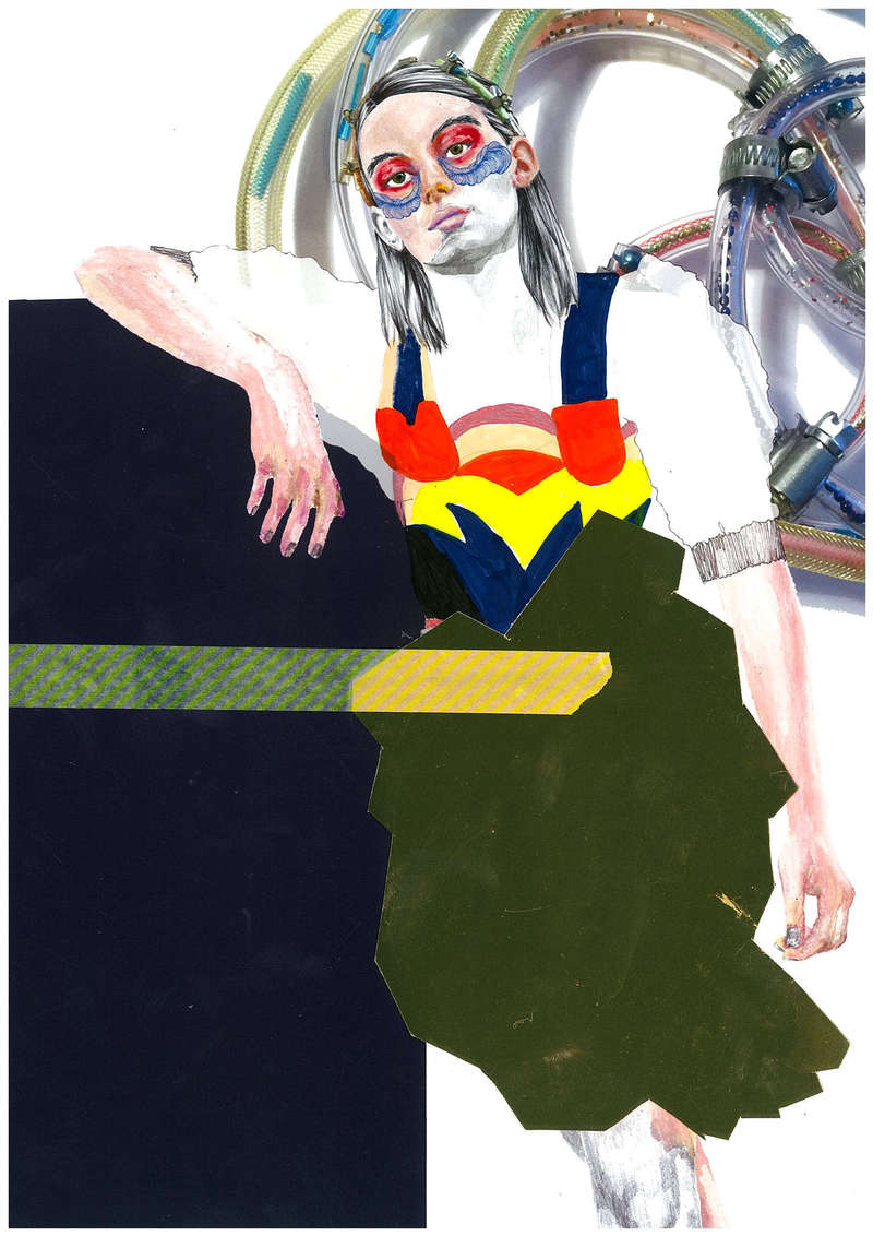 Folies Bergères II, Fashion Illustration (2016), Manon Planche.