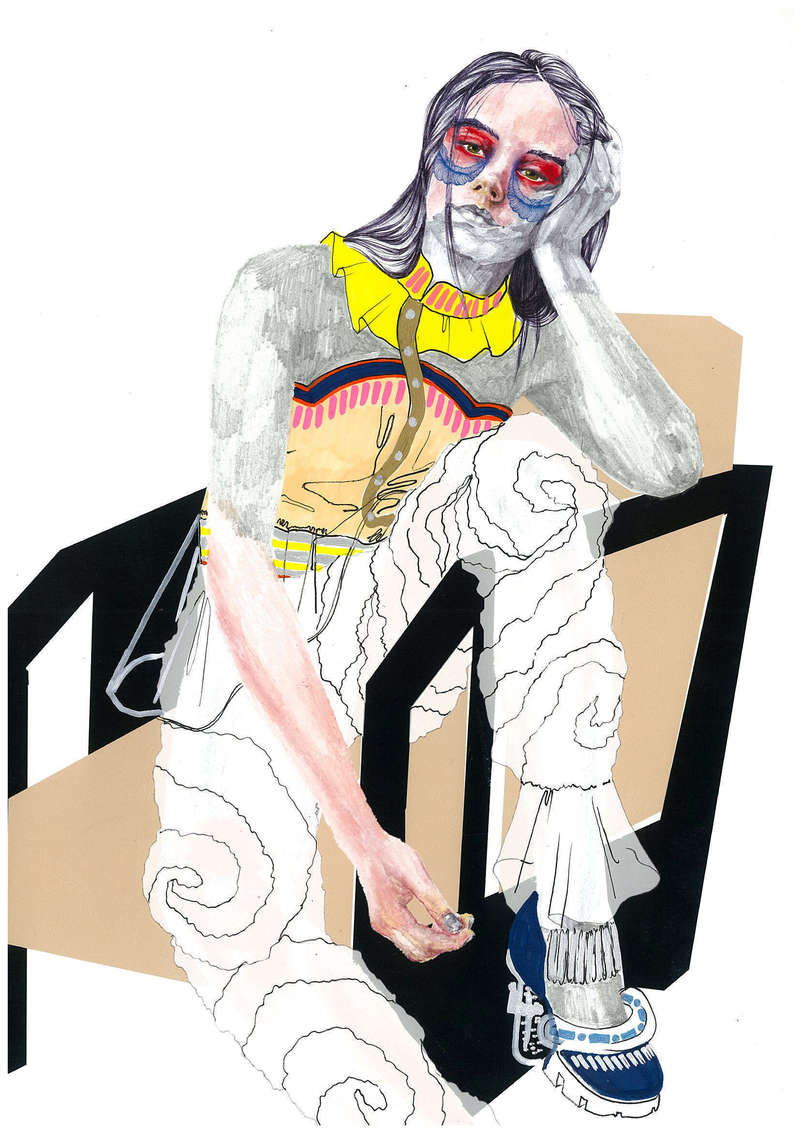 Folies Bergères I, Fashion Illustration (2016), Manon Planche.