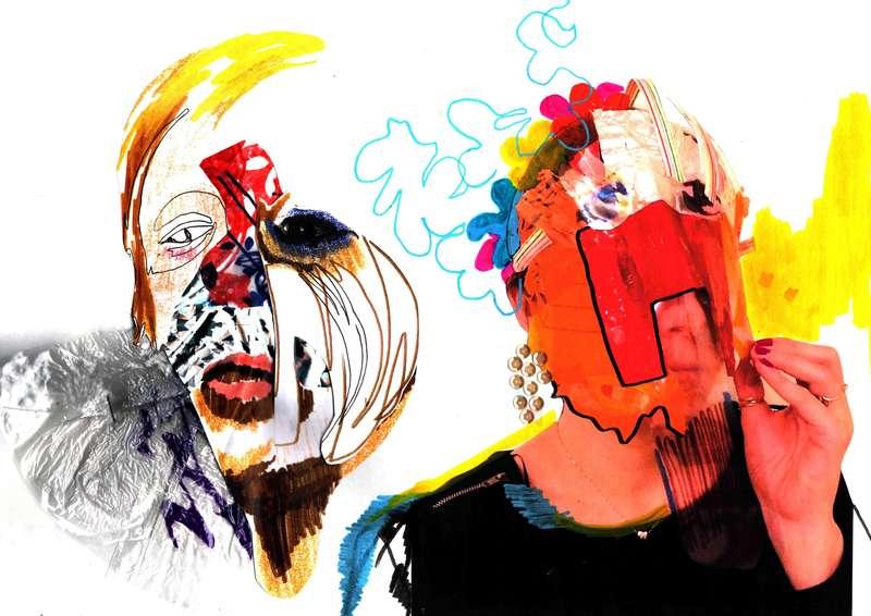Masquerade III, Collage (2012), Manon Planche.