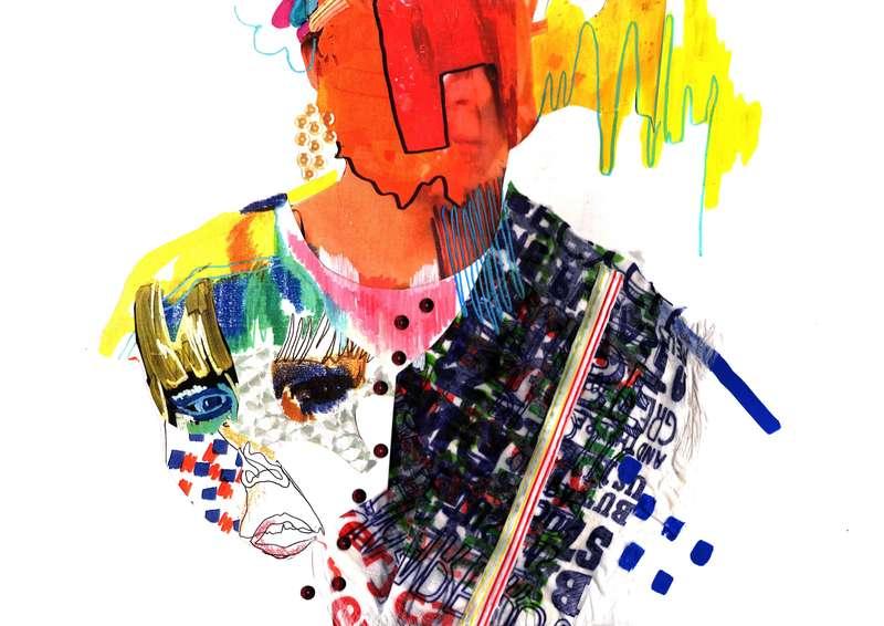 Masquerade II, Collage (2012), Manon Planche.