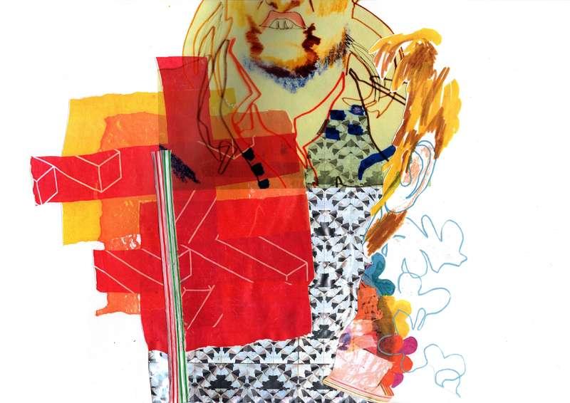 Masquerade I, Collage (2012), Manon Planche.