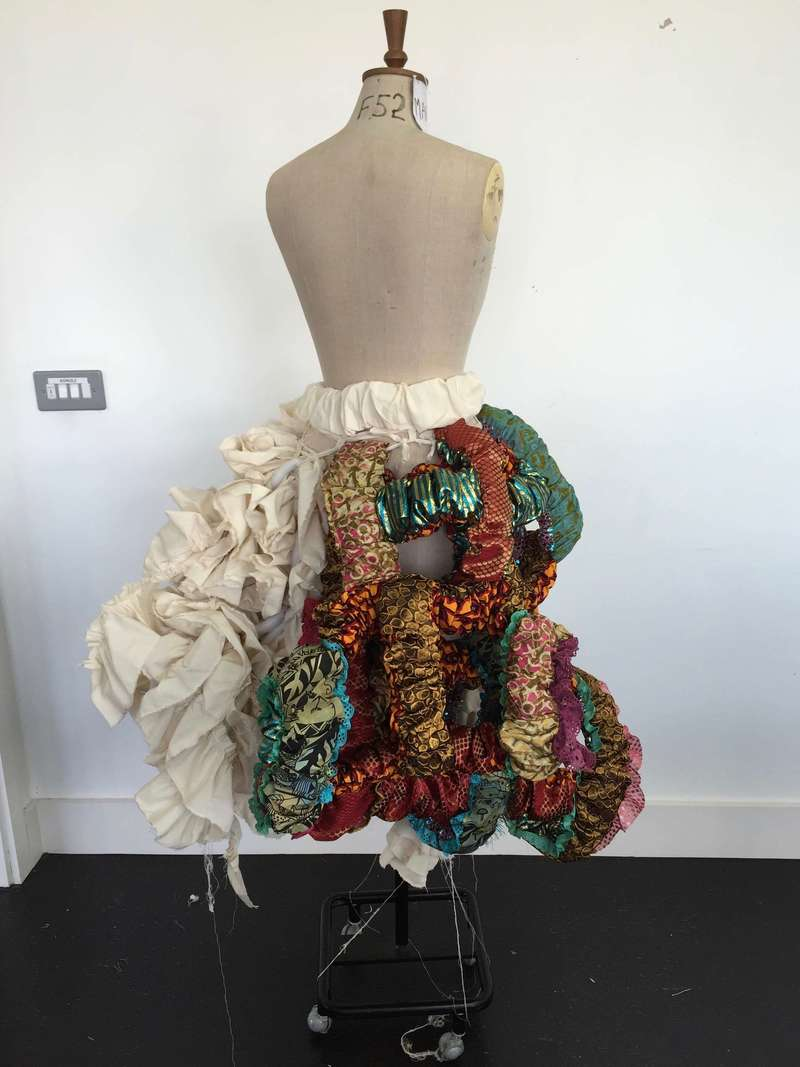 Tam Tam Skirt, Draping (2016), Manon Planche.