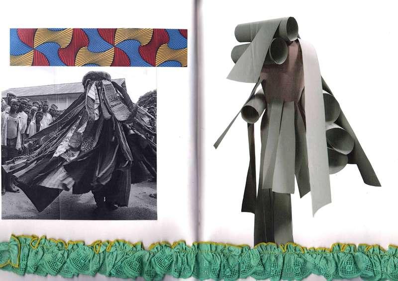 Tam Tam Research II, Collage (2016), Manon Planche.