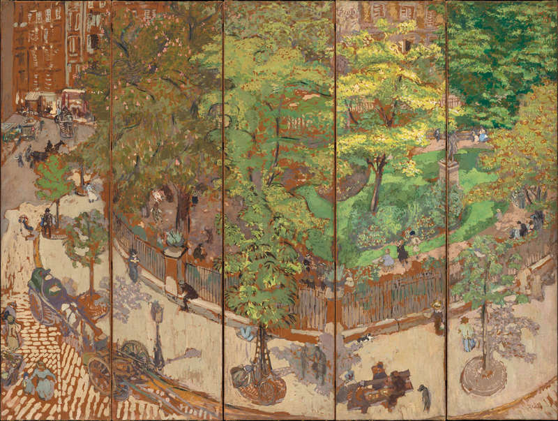 Place Vintimille, Painting (1911), National Gallery of Art.