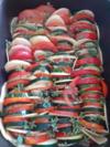 aubergine, courgette, tomate gratin