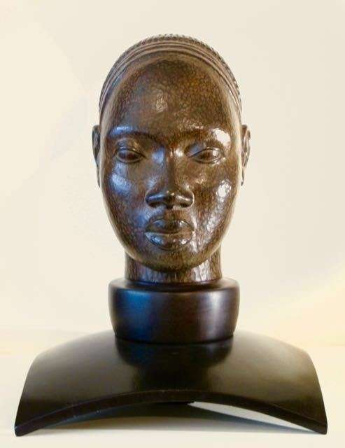 VISAGE D'AFRIQUE - bronze