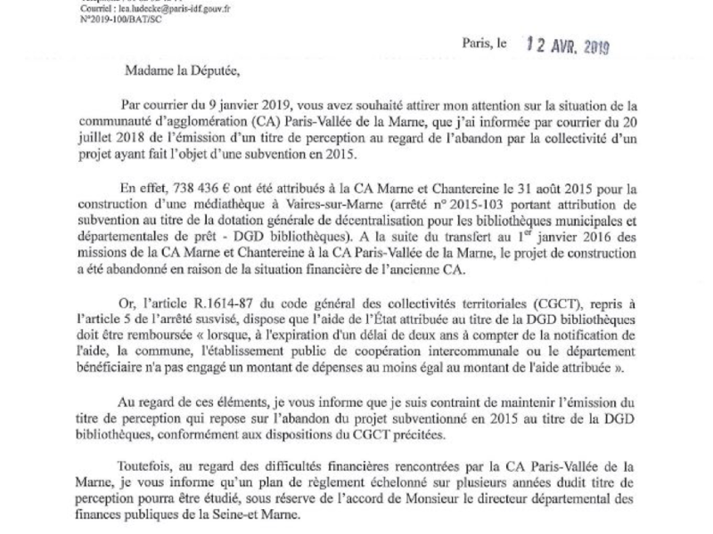 le_pre_fet_d_ile-de-france_accorde_un_plan_de_re_glement_e_chelonne__pour_le_remboursement_de_la_subvention_par_l_agglome_ration_paris-valle_e-de-la-marne