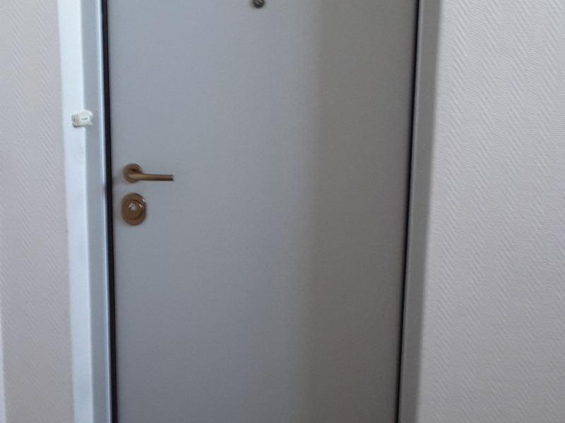 Porte blindée vue extérieur