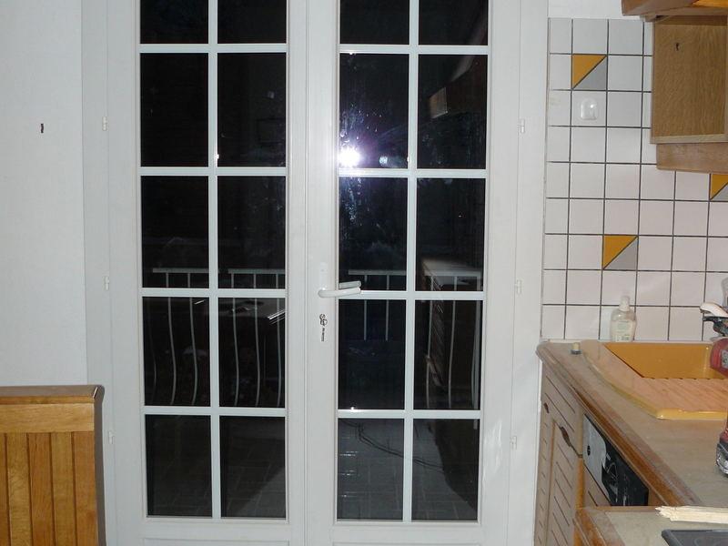 Création porte fenêtre (vue intérieur)