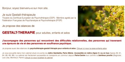 Psychothérapie humaniste et relationnelle  Adultes - Enfants - Adolescents