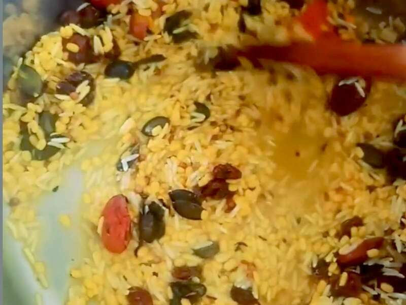 Kicheri en préparation, plat typique indien très bon pour les convalescences