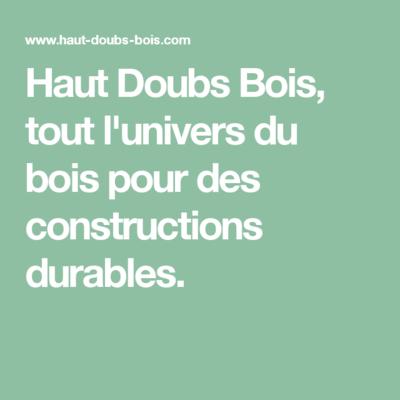 Haut Doubs bois