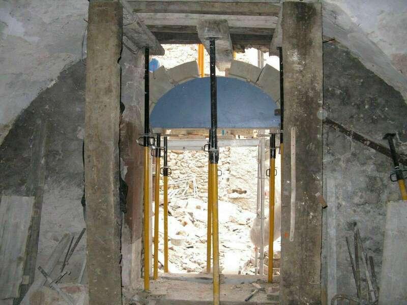 Création d'une ouverture cintrée dans le bâti ancien