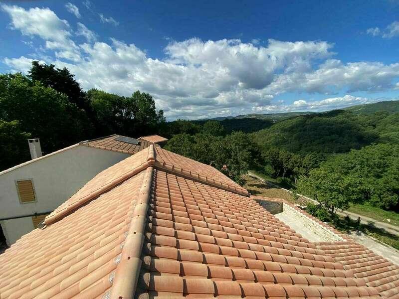 Création d'une terrasse sous toiture