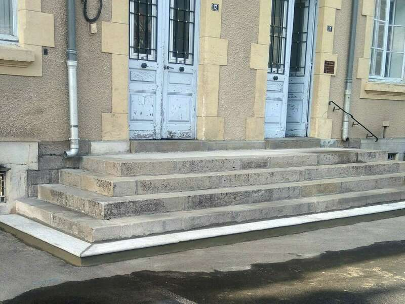 Réfection escalier de pierres