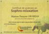 certificat de sophro relaxation