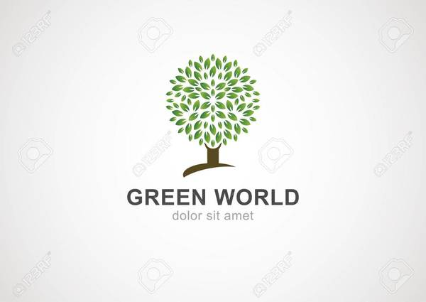 31575929 green tree cercle modele vecteur de conception de logo jardin ou ecologie icone
