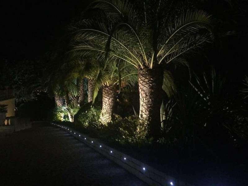 Eclairage leds d'un jardin