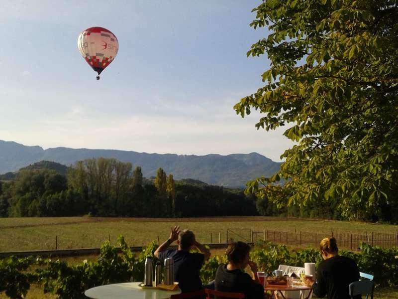 ... et surprise : une montgolfière !