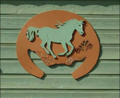 """""""Sur la plaine des Maures dans le Centre Var, à Gonfaron, Juliette Guy la gardienne des lieux sera ravie de vous accueillir et  prendre soin de vos chevaux. Ecurie de pension, halte équestre de randonnée, gîte d'étape en roulotte, un petit coin de paradis où il y fait bon vivre pour nos compagnons les chevaux."""""""