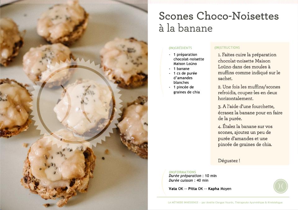 recette scones choco-noisettes a la banane