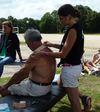 pose de K tape sur un événement sportif par ostéo du sport à Nandy 77 seine et marne