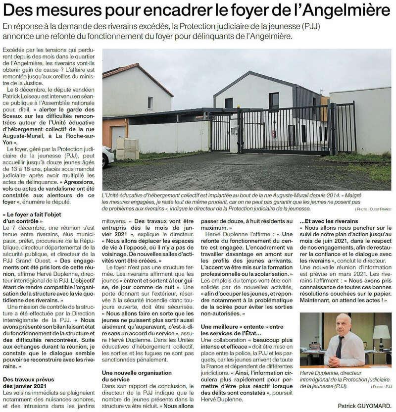 Publié le 15 décembre 2020 - Ouest-France