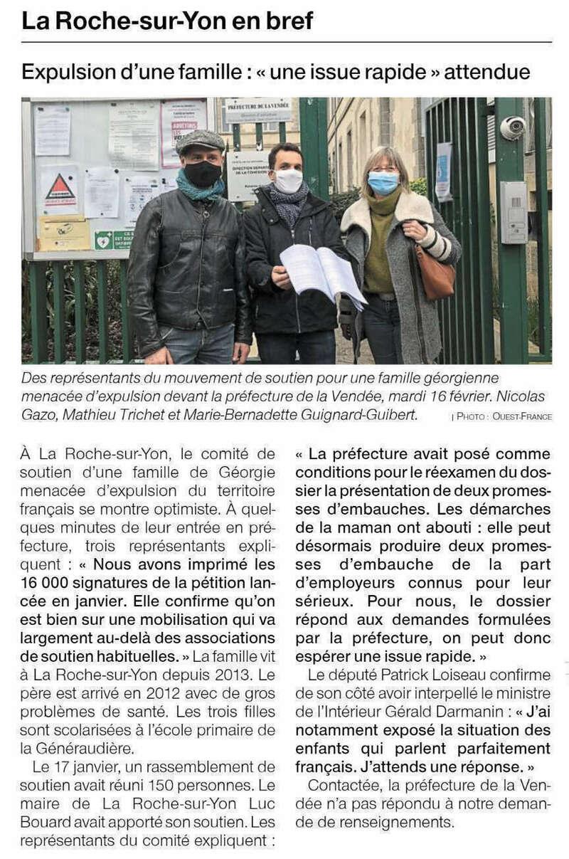 Publié le 17 février 2021 - Ouest-France