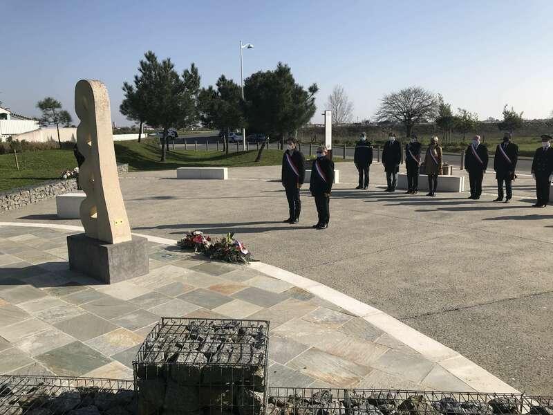 Cérémonie de commémoration à la mémoire des victimes de la tempête Xynthia à La Faute-sur-mer. (Dimanche 28 février 2021)