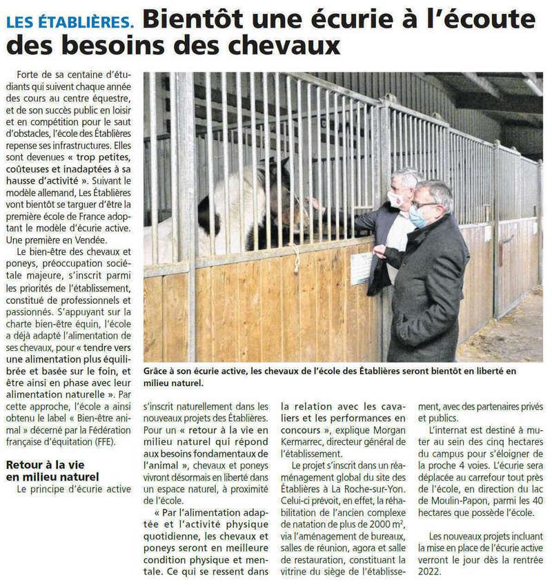 Publié le 4 mars 2021 - Journal du Pays Yonnais