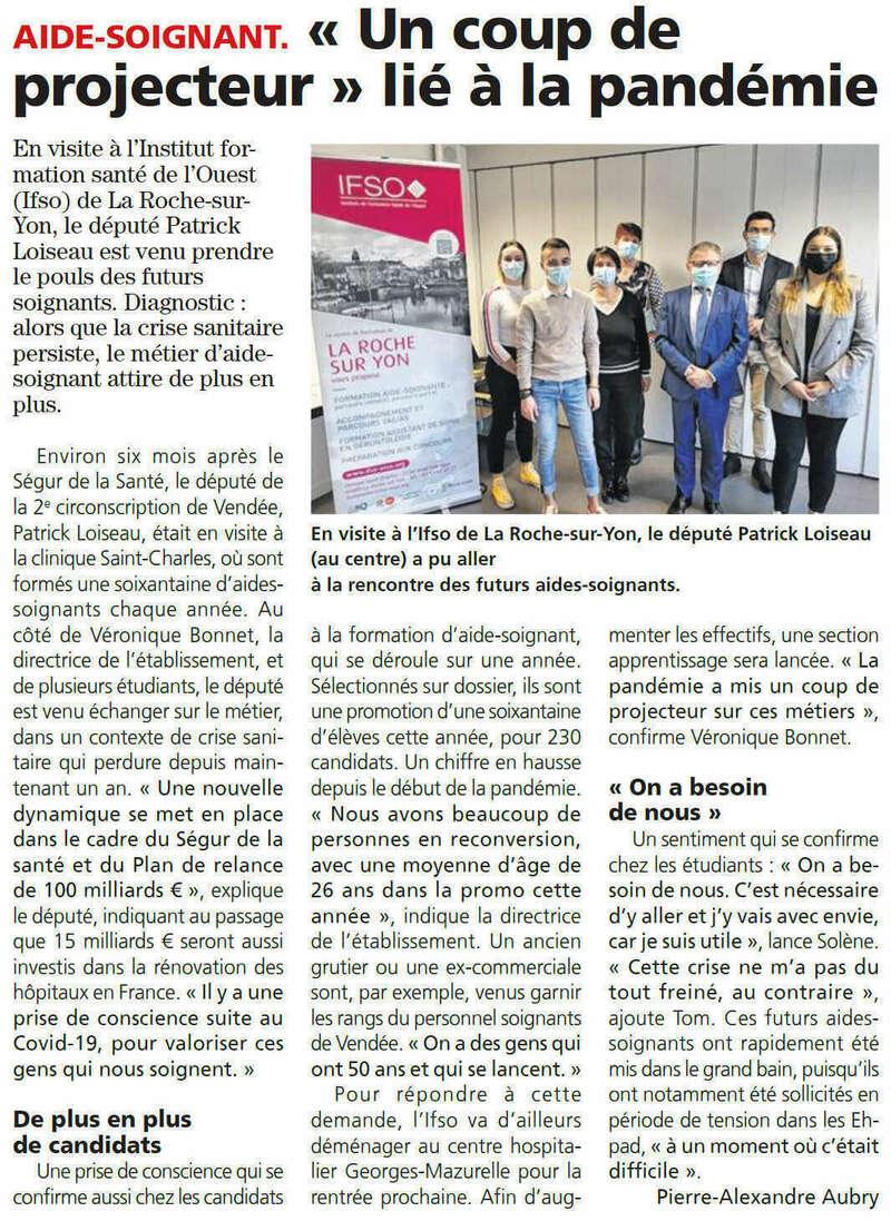 Publié le 18 mars 2021 - Journal du Pays Yonnais