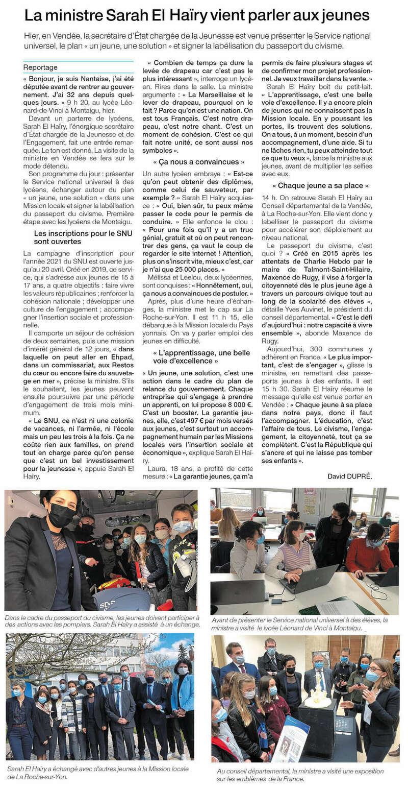 Publié le 27 mars 2021 - Ouest-France