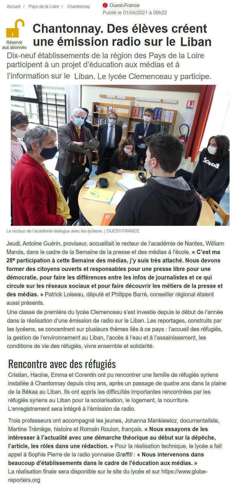 Publié le 1er avril 2021 - Ouest-France