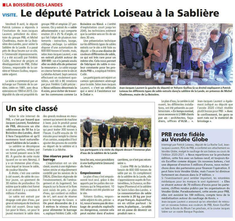Publié le 15 avril 2021 - Journal du Pays Yonnais