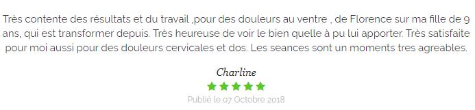 Témoignage de Charline sur les soins en médecines douces de Florence Chanel en Haute-Loire