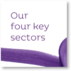 Our four key sectors