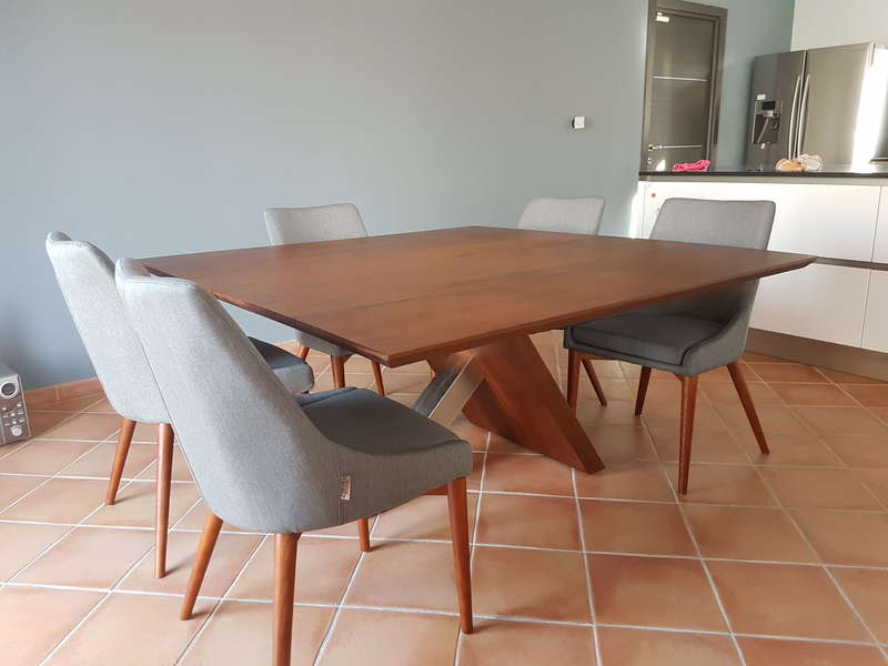Table  Noyer et Inox