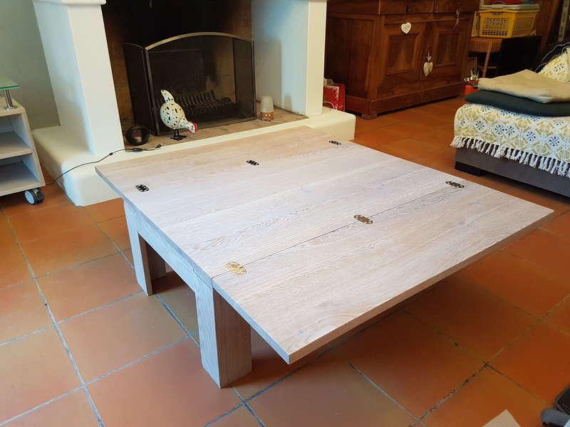 Table basse avec rallonges
