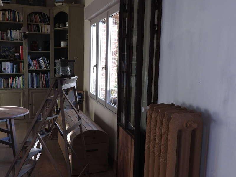 Verrière industrielle aspect rouillée acier/bois