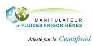 Attestation capacité à la manipulation des fluides frigorigènes
